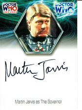 DOCTOR WHO 40TH ANNIVERSARY AUTOGRAPH WA13 OF MARTIN JARVIS AS THE GOVERNOR