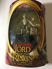 "LORD OF THE RINGS TWO TOWERS SMEAGOL w/ SOUND BASE BATTLE 6"" TOYBIZ Marvel New"