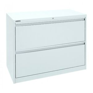2 Drawer Lateral Filing Cabinet - Brownbuilt Octave