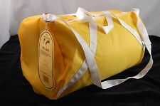 Sports Bag Toppers Roll bag Water Resistant Nylon Shoulder Strap Gold 18x10