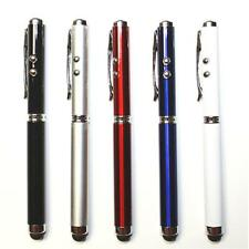 10X 4-in-1 Ballpoint Pen + Stylus + Pointer + LED For iPad iPhone iPod Tablet PC