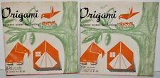 """Vintage 1980's Origami Japanese Paper for Folding 96 Sheets 24 Colors 6"""" x 6"""""""