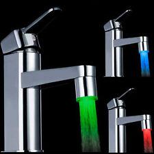 7 Farben Farbwechsel LED Licht Wasserhahn Wasser Armatur Aufsatz Dekoration