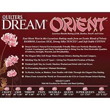 "Quilters Dream Throw Orient Select Quilt Batting 60"" x 60"""