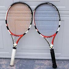 """TWO (2) Babolat Aero Storm Tour Cortex Tennis Racket 4-3/4"""" Grip Used"""