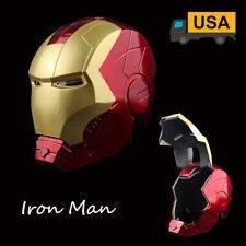 Marvel Avengers Legends Iron Man Electronic Helmet Mask Cosplay Face Shield Gift