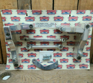 Polished Alternator and AC Brackets BBC air conditioning Chevy BIG BLOCK Hot Rod