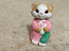 Hallmark 1992 Christmas Merry Miniature Daughter Cat Pj's with Gold Sticker