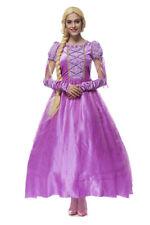 Halloween Party Cosplay Purple Tangled Princess Fancy Dress Rapunzel Costume