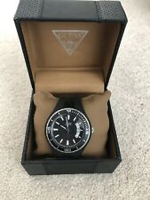 Mens Black Guess Watch With Silicone Strap. Excellent Condition. Original Box.