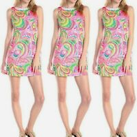 Lilly Pulitzer Mila shift dress multi all nighter pink flamingo crochet lace 2