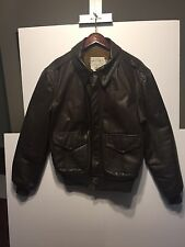 Cooper/Saddlery A-2 Brown USAF Goatskin Leather Bomber Jacket Size 40R