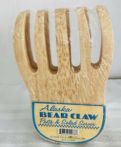 Pair Alaskan Bear Claw Wood Pasta &Salad Server. New in sealed package. Kitchen