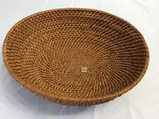 New ListingBraided Woven Wicker Basket Bowl Farmhouse Country Cottage Boho Made Philippines