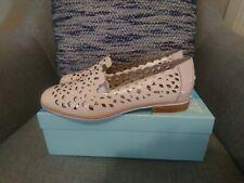"Women's ""Zazou"" Despina Beige Patent Leather Flat Shoe Size 39"