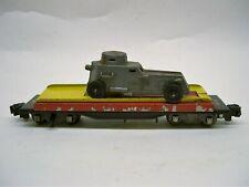 715 American Flyer Auto Unloading Car w/ Camoflaged Armored Car [LL-F70]