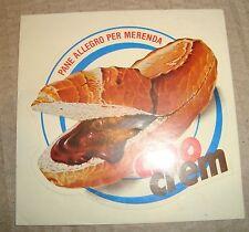 CIAO CREM STAR ADESIVO PUBBLICITARIO ANNI '70