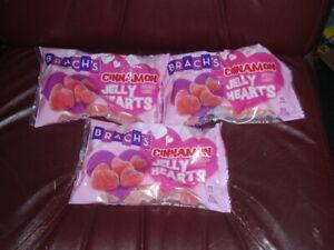 Lot of 3 Bags Brach's Cinnamon Hearts 14 oz. Each Sealed BB 9/2022 FRESH