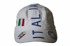 ITALIA ITALY WHITE MILITARY STYLE FIGC LOGO FIFA WORLD CUP HAT CAP .. WC.. NEW