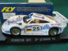 FLY 1/32ND SLOT CAR A31 Porsche gt1 White LE MANS 96 #25  USED EXCELLENT BOXED