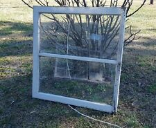 VINTAGE SASH ANTIQUE WOOD WINDOW FRAME PINTEREST RUSTIC 33x31 MELTED WAVY GLASS