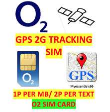 O2 02 Sim Card GPS Tracker 2G GSM Devices Tracking 2p Text 1p MB PAYG Track