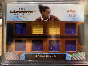 Ronaldinho 2019 Leaf The Ultimate Sports Card Brazil Barcelona 8/15 Bronze SP
