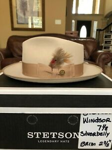 """STETSON """"WINDSOR"""" SILVERBELLY 7 1/8 GREAT FEDORA!"""