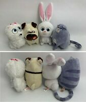 Ty Beanie Babies SECRET LIFE OF PETS GIDGET SNOWBALL MEL CHLOE Plush Lot of 4