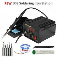 Esd Soldering Iron Station Kit 75w Temperature Adjustable Welding Tool 110v220v