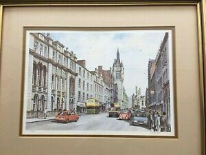 Vintage Aberdeen Union St 1980 Ltd Ed Print Of Painting Listed Scottish Artist