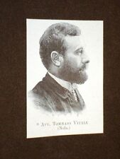 Deputato nel 1894 Onorevole Avvocato Tommaso Vitale di Nola