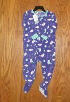 Carter's Baby Girls One Piece Purple Fleece Footie Blanket Sleeper 6 mo 18 mo 2T