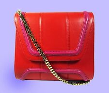 YLIANA YEPEZ Mini Giovanna Red/Pink Leather Shoulder Bag Msrp$695 *PRICE REDUCED