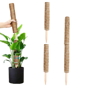2x Coir Totem Pole w/ Watering Spike Labels Moss Stick for Garden Climbing Plant