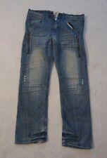 FUSAI FOCUS USA INC mens stressed jeans Size 30 32