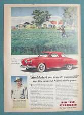Original 1950 Studebaker Ad Photo Endorsed by Ariel F Cooley of Mesa Arizona