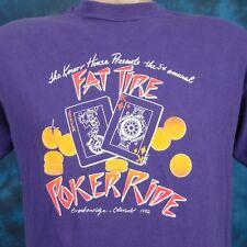 vintage 90s BRECKENRIDGE COLORADO FAT TIRE BICYCLE POKER RIDE T-Shirt MEDIUM