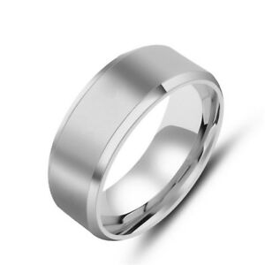 Stainless Steel Men Ring Band Rotatable Chain Jewelry Fashion Gifts