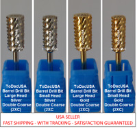 ToDacUSA CARBIDE NAIL DRILL BIT FOR PRO: DOUBLE COARSE - 2XC