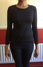 Amazing Calvin Klein CK 100% Silk Knit Sweater with Beads, Size S