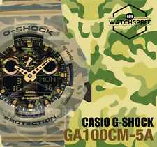 Casio G-Shock Big Bold Case of GA-100 Camouflage Series Green Watch GA100CM-5A