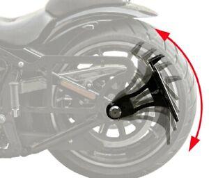seitlicher Kennzeichen Halter Harley Softail schwarz kurz mit TÜV-Teilegutachten