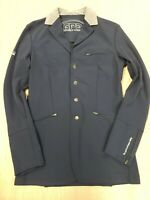 ■279 GPA Ladies Double Clear Hunt Jacket Navy Sz 46L Equestrian Horse Riding