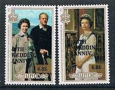 Niue 1987 Queens 40th Wedding Anniversary SG657/8 MNH