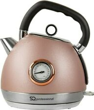 Epoque Electric Kettle Temperature Display - 2200W - 1.8L Stainless Steel Pink