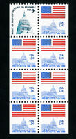 US Stamps # 1623a-c VF Block 8 perf NH