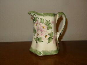Clinchfield Artware Pottery Handpainted By The Cash Family Pitcher Creamer