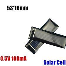 10Pcs Mini Solar Panel New 0.5V 100mA Solar Cells Photovoltaic panels  53*18MM
