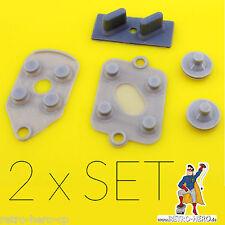 2 x Super Nintendo SNES Conductive Rubber Silicon Gummi Pads Controller Repair